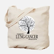 Lung Cancer Tree Tote Bag