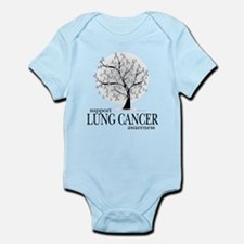 Lung Cancer Tree Infant Bodysuit