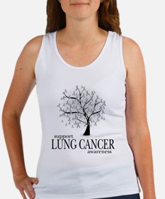 Lung Cancer Tree Women's Tank Top