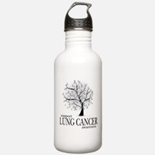 Lung Cancer Tree Water Bottle