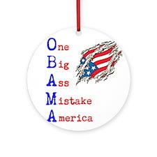 anti-obama Ornament (Round)