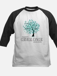 Cervical Cancer Kids Baseball Jersey