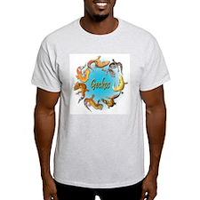 Gecko Circle Ash Grey T-Shirt