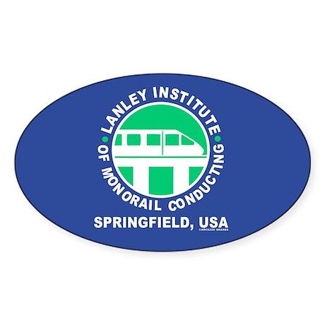 Lanley Monorails Sticker (Oval)