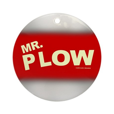 Mr Plow Ornament (Round)