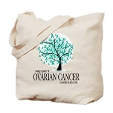 Ovarion Cancer Tree Tote Bag