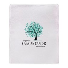 Ovarion Cancer Tree Throw Blanket