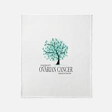 Ovarion Cancer Tree Throw Blanket