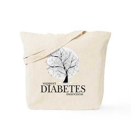 Diabetes Tree Tote Bag