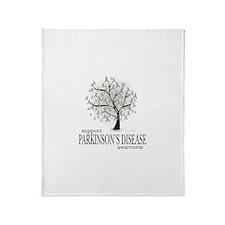 Parkinson's Disease Tree Throw Blanket