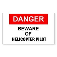 Helicopter Pilot Rectangle Decal