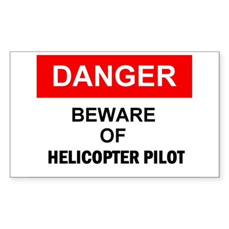 Helicopter Pilot Rectangle Sticker