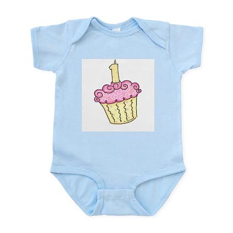 First Birthday Cupcake Infant Creeper
