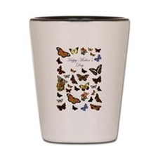 Happy Mother's Day Butterflies Shot Glass