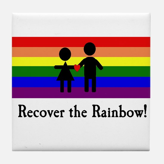 Recover the Rainbow Tile Coaster