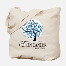 Colon Cancer Tree Tote Bag