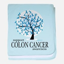 Colon Cancer Tree baby blanket