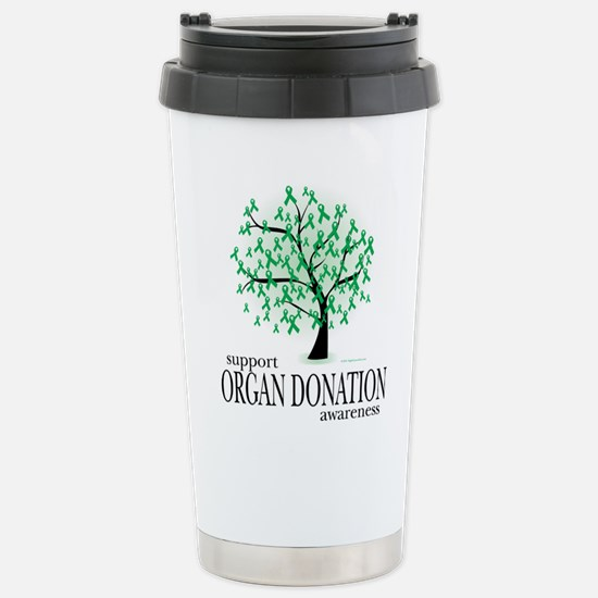 Organ Donation Tree Stainless Steel Travel Mug