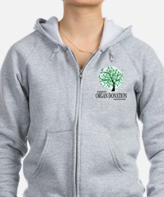 Organ Donation Tree Zip Hoodie