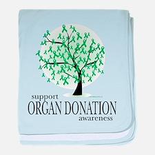 Organ Donation Tree baby blanket