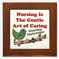 Cute Nursing instructor Framed Tile
