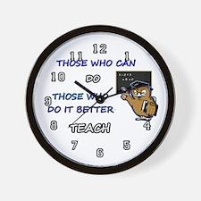 TEACHERS CAN Wall Clock