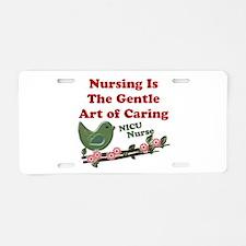 Cute Nicu nurses Aluminum License Plate