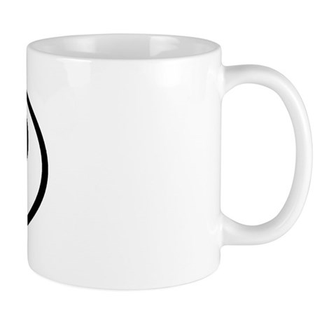 UP - Initial Oval Mug