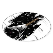 Flying V Guitar Oval Decal