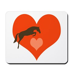 horse hearts Mousepad