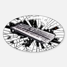 Keyboards Oval Decal