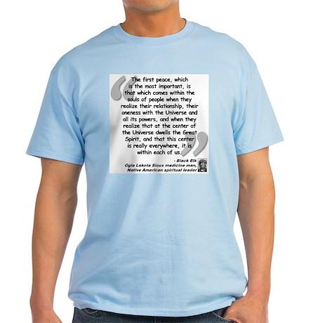 Black Elk Spirit Quote Light T-Shirt