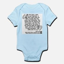 Black Elk Spirit Quote Infant Bodysuit
