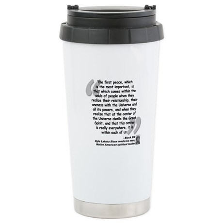 Black Elk Spirit Quote Stainless Steel Travel Mug