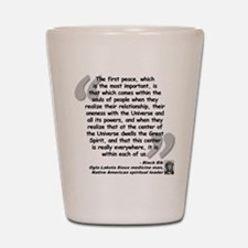 Black Elk Spirit Quote Shot Glass