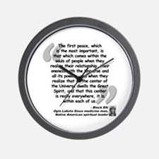 Black Elk Spirit Quote Wall Clock