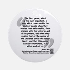 Black Elk Spirit Quote Ornament (Round)
