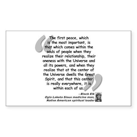 Black Elk Spirit Quote Sticker (Rectangle)