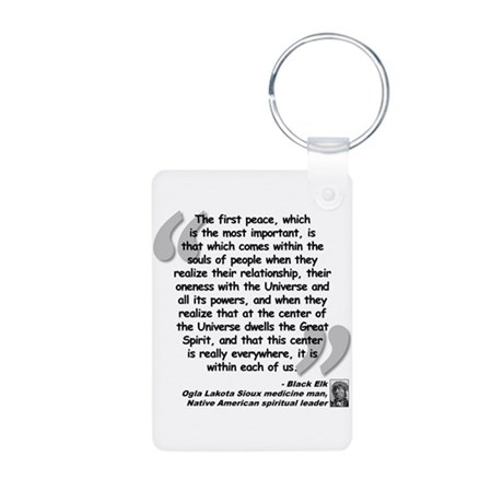 Black Elk Spirit Quote Aluminum Photo Keychain