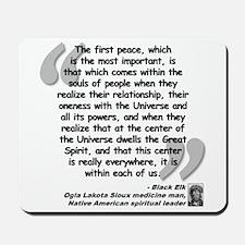 Black Elk Spirit Quote Mousepad