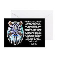 Black Elk Quote Greeting Card