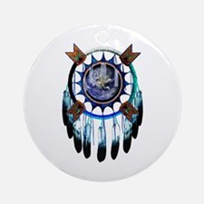 Black Elk Art Ornament (Round)