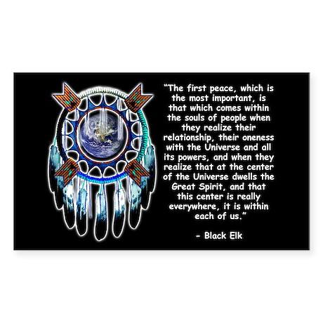 Black Elk Quote Sticker (Rectangular)