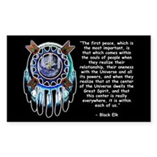 Black Elk Quote Sticker (Rectangular)
