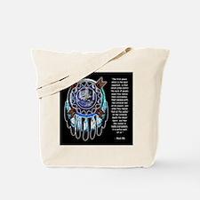 Black Elk Quote Tote Bag