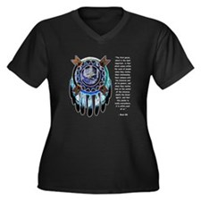Black Elk Quote Women's Plus Size V-Neck Dark T-Sh