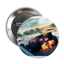 """Funny Formula one racing car 2.25"""" Button"""