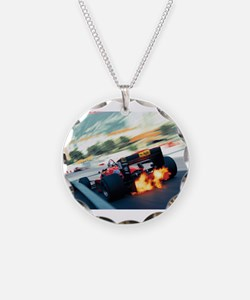 Cute Formula one racing Necklace