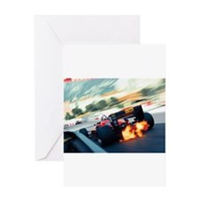 f1 fire Greeting Cards