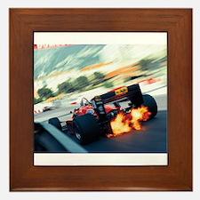 Cute Vintage racing Framed Tile